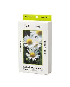Lululun Organic Sheet Mask, Chamomile for Smooth Skin (5 sheets)