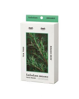 Lululun Organic Sheet Mask, Tea Tree for Rough Skin (5 sheets)
