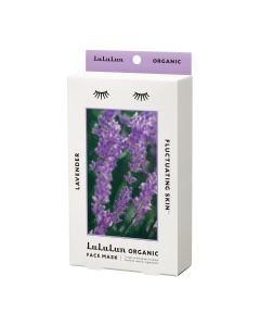 Lululun Organic Sheet Mask, Lavender for Fluctuating Skin (5 sheets)