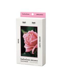 Lululun Organic Sheet Mask, Rose for Aging Skin (5 sheets)