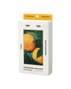 Lululun Organic Sheet Mask, Yuzu for Moisturizing Skin (5 sheets)