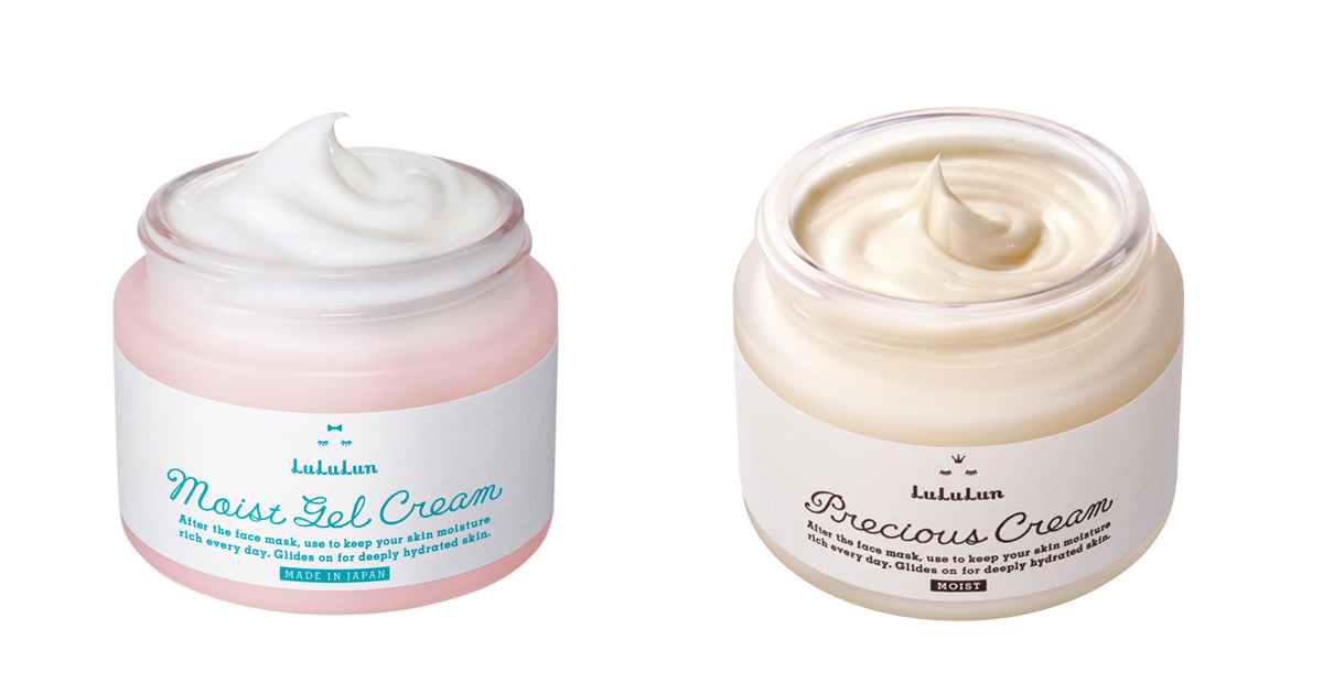 moist gel cream and precious cream